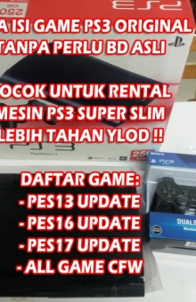 ISI GAME PS3 SLIM/SUPERSLIM OFW 160/250GB (CFW GAME)