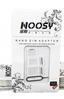 NOOSY 3 in 1 Nano SIM Adapter with SIM Card Tray