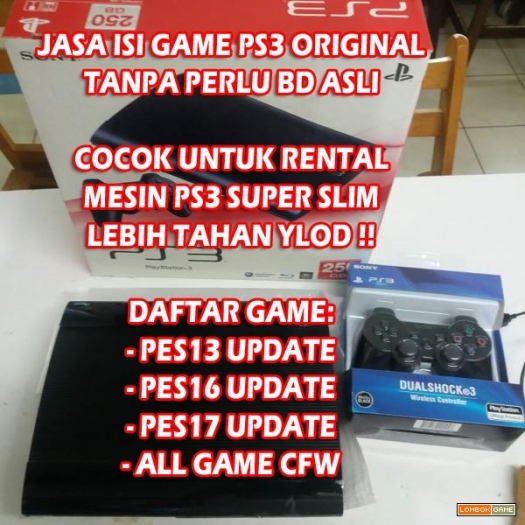 PS3 SUPERSLIM 500GB (GARANSI 2 BULAN) FULL GAME